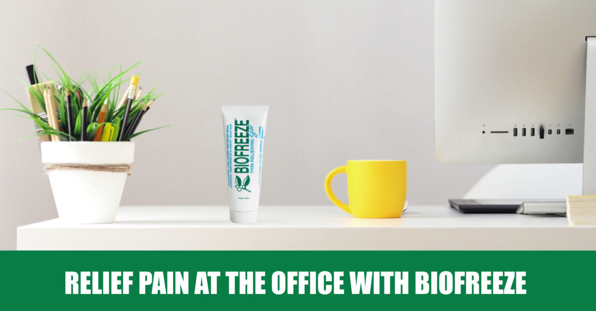 Relief pain at the office wtih Biofreeze